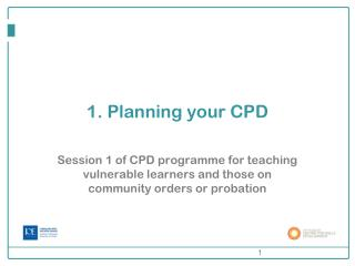 1. Planning your CPD