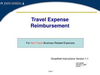 Travel Expense Reimbursement