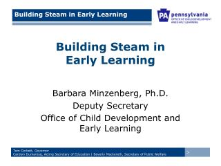 Building Steam in  Early Learning