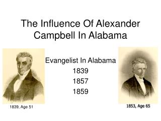 The Influence Of Alexander Campbell In Alabama