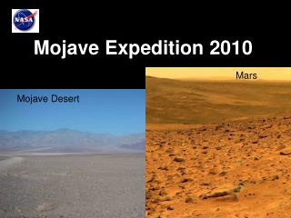 Mojave Expedition 2010