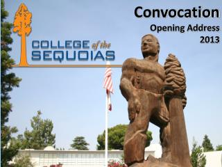 Convocation Opening Address 2013