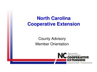 North Carolina Cooperative Extension