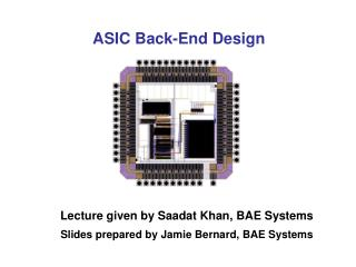 ASIC Back-End Design
