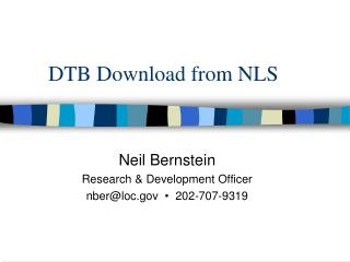 DTB Download from NLS