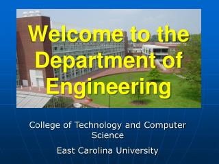 Welcome to the Department of Engineering
