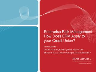Enterprise Risk Management   How Does ERM Apply to your Credit Union?