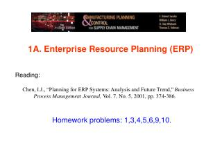 1A.  Enterprise Resource Planning (ERP)