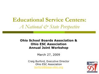 Educational Service Centers: A National & State Perspective
