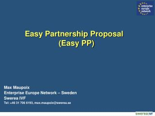 Easy Partnership Proposal (Easy PP)