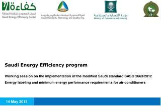 Saudi Energy Efficiency program