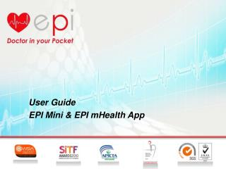 User Guide EPI Mini & EPI mHealth App