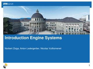 Introduction  Engine Systems