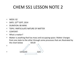 CHEM SS1 LESSON NOTE 2