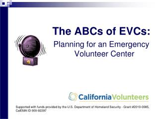 The ABCs of EVCs: Planning for an Emergency Volunteer Center