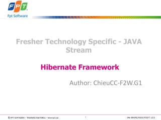 Fresher Technology Specific - JAVA Stream   Hibernate Framework