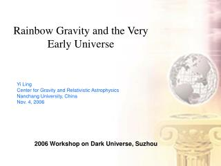 Rainbow Gravity and the Very Early Universe