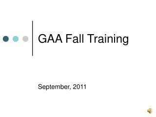 GAA Fall Training