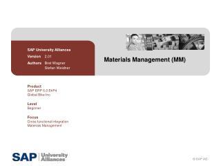 Materials Management (MM)