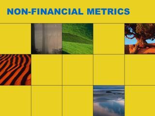 NON-FINANCIAL METRICS