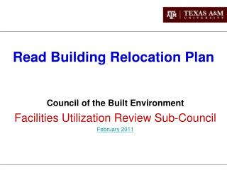 Read Building Relocation Plan