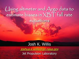 Using altimeter and Argo data to estimate biases in XBT fall rate equations