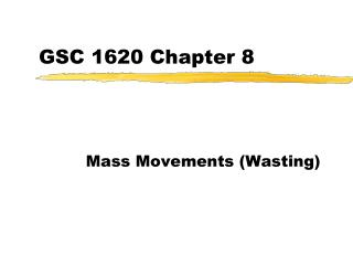 GSC 1620 Chapter 8