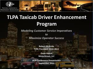 TLPA Taxicab Driver Enhancement Program