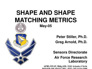 SHAPE AND SHAPE MATCHING METRICS May-05