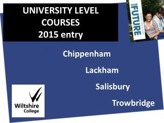 Chippenham Lackham Salisbury Trowbridge