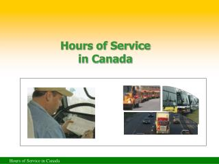 Hours of Service in Canada