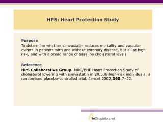 HPS: Heart Protection Study