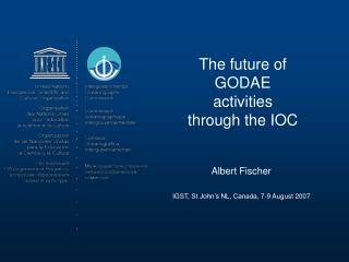 The future of GODAE activities through the IOC