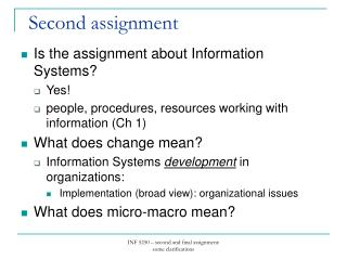 Is the assignment about Information Systems? Yes!