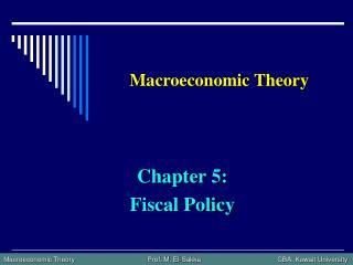 Macroeconomic Theory