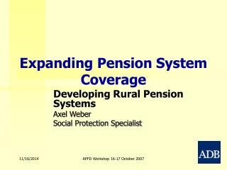 Expanding Pension System Coverage