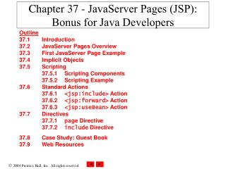 Chapter 37 - JavaServer Pages (JSP): Bonus for Java Developers
