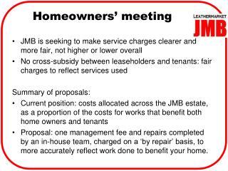 Homeowners' meeting