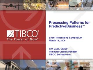 Processing Patterns for  PredictiveBusiness TM