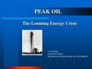 The Looming Energy Crisis