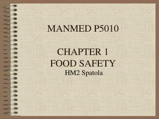 MANMED P5010 CHAPTER 1 FOOD SAFETY