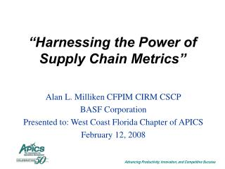 """Harnessing the Power of Supply Chain Metrics"""