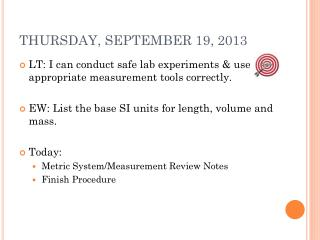 THURSDAY, SEPTEMBER 19, 2013
