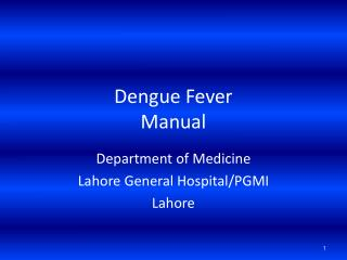 Dengue Fever Manual