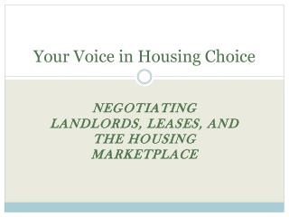 Your Voice in Housing Choice