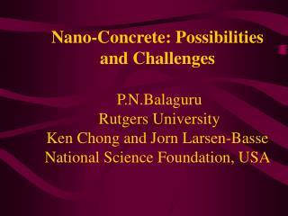 Nano cement composites