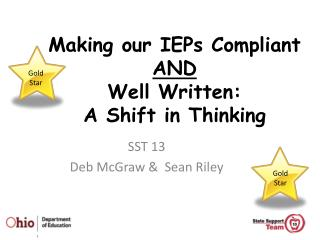 Making our IEPs Compliant  AND Well Written:  A Shift in Thinking