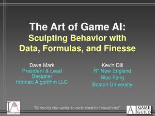 The Art of Game AI: Sculpting Behavior with Data, Formulas, and Finesse