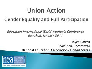 Joyce Powell Executive Committee  National Education Association- United States