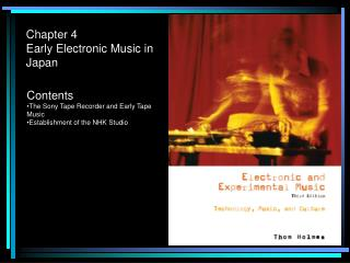 Chapter 4 Early Electronic Music in Japan